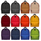 MENS BOYS GIRL SHOULDER PLAIN CANVAS BACKPACK RUCKSACK SCHOOL COLLEGE TRAVEL BAG