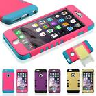 """Silicone+PC Hybrid Shockproof Soft Cover Case For iPhone 6 4.7"""" & 6S Plus 5.5"""""""