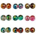 ❤ Round DRIZZLE Glass Drawbench Beads CHOOSE COLOUR & SIZE 4mm, 6mm, 8mm UK ❤