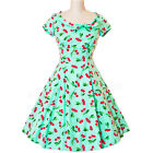 Heart Of Haute Beverly Cherry Dot Dress Rockabilly Pin Up Retro Vintage 50s