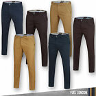 Mens Chino Trousers Cotton Regular Pants Slim Fit Casual Skinny Stallion New