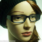 60s Vintage Women Rectangle Retro Fashion Optical Frame Clear Lens Eye Glasses