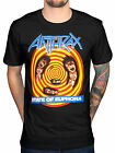 Official Anthrax State Of Euphoria T-Shirt Rock Amoung The Living Fistful Of Fan