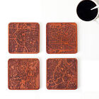 Set of 4, 6, or 8, City map coaster, Any Combination of Multiple city Optional
