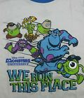 "NEW DISNEY MONSTERS UNIVERSITY BOYS ""We Run This Place"" TSHIRT You Pick Size"