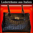 Strap bag with Crocodile embossing - Leather dream From Italy / Women's / S005