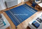 Kelim Ethnic Flatweave Rug Blue in various sizes runner and cushion covers