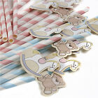 Rock-a-Bye Baby Shower Christening Party Straws x 25 & More!