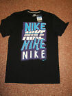 Mens Nike T shirt Black Blue Cotton M or L 38 42 inch chest BNWT
