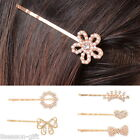 1PC Womens Hair Accessories Clip Diamante Hairpins Flower Heart Bow Wedding