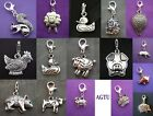 PICK YOUR FARM ANIMAL CHARM Clip On Sheep Pig Hen Chicken Duck Dog Mouse Cow