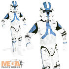 Clone Trooper Mens Fancy Dress Star Wars Sci-Fi Soldier Adults Costume Outfit