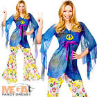 Woodstock Hippie + Medallion 1970s Ladies Fancy Dress Hippy 1960s Costume Outfit