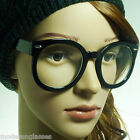 RETRO Oversized Round Thick Nerd Circle Bold Geek Frame Clear Lens Eye Glasses