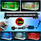 RGB Remote Color Changing LED SMD Aquarium Fish Tank Light Submersible Airstone