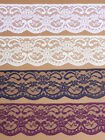 "NOTTINGHAM LACE TRIMMING 2.25""/5.5cm White Black Ivory Navy Pink Red Purple"