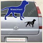 American Bulldog Sticker Dog Car with o. without Text of your choice Article no.