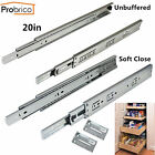 "1-15Sets 20"" Soft Close Ball Bearing Full Extension Drawer Slides or Brackets"