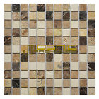 """Marble Mosaic Tile, """"Soul Collection"""" MM 1203 - Breeze, 1""""X1"""" Square, Polished"""