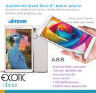 "AMPE 8"" Quad Core Tablet Phone Qualcomm MS8916 4G 3G GSM Android 5.0 Dual Sim"