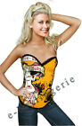 Posh Yellow Pin-Up Devil Corset New Year Party Lingerie Valentines Costume