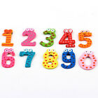 10 Number&A-Z Wooden Fridge Magnet Education Learn Cute Kid Baby Gift Set Toy H5