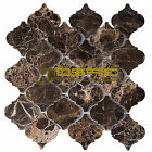 "Marble Mosaic Tile, ""Lantern Collection"" MM 9203 - Emperador Dark, Polished"