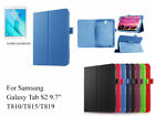 Screen Protector/360°Rotate PU Leather case for Samsung Galaxy Tab S2 9.7""