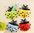 Ladybird Toothbrush Holder Stand Mount With Suction Grip Wall Rack Home Bathroom