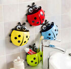 Cute Kids NEW ladybird Toothbrush Storage Sticky Holder Suction Cup Bathroom