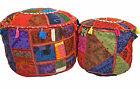 Bean Bag Cover FootStall Pouffe Recycled Fabric Indian FairTrade Large Handmade
