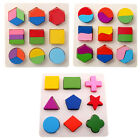 Baby Kids Wooden Geometric Sorting Puzzle Board Shape Sorter Educational Toy