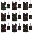 NEW Ladies Tie Dye Top Hippy Hippie Gypsy Boho Casual Festival Halter Tank Shirt