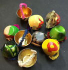 Early Recycling - 10 Tiny 1950s Tin Cups Made from Old Tin Cans