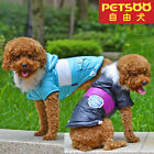 PETSOO Winter Dog Coat Contrast Color Adjustable button Dog Clothes XS-XXL 6size