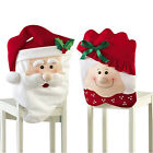 2015 New Christmas Santa Clause Dinner Table Decorations Couple Lover Chair Sets