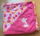 New Gymboree Jolly Giraffe Blanket Reversable Blankets NWT Pink Baby Girl