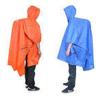 Hot Camping 3 in 1 Hooded Poncho Backpack Rain Coat Groundsheet Sunshade Cover