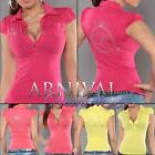 NEW SEXY LADIES CASUAL WEAR TOPS online sz XXS XS S M shop WOMEN'S POLO T SHIRTS