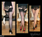 3 pairs NYLONZ Luxury Contrast Seamed Stockings MIXED COLOUR S,M,L,XL