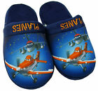 Boy's Disney Pixar PLANES Dusty Navy Slippers Mules UK Shoe Sizes 10 to 2 NEW