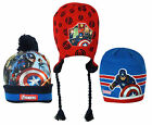 Boys Avengers Assemble Winter Beanie Hat Trapper Bobble Cap 3 to 12 Years
