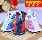 PETSOO Small Pet Puppy Shoes Sandwich Mesh Dog Boots XS-XL 5 Size 3 colors