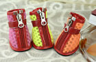 PETSOO Small Puppy Shoes New Cellular Grid Dog Boots XS-XL 5 Size 3 colors