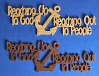 Reaching Up To God, Reaching Out To People - Hand Cut Wood Wall Hanging