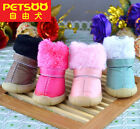 PETSOO Puppy Shoes Cotton Dog Shoes winter Dog Boots Lining Fleece XS-XL 5 Size
