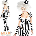 Beetlejuice Corset Trouser Suit Ladies Fancy Dress Womens Halloween Costume 6-16