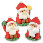 Assorted 3D Santa Claus -Edible Sugar Christmas Cupcake Toppers Cake Decoration