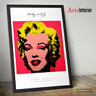 Stampa FINE ART - Andy Warhol - Marilyn Monroe Hot Pink - Wall Poster POP ART