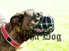 Boxer Muzzle, real leather, black or natural, Adjustable